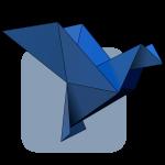 Floss origami bird